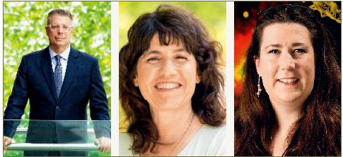 WWW 2017主题报告专家(左起:马克·佩斯、耶艾尔·玛瑞克、梅勒妮·约翰斯顿-霍利特)